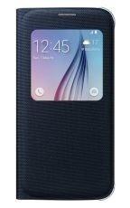 Etui Samsung S View Cover Textil Czarne do Galaxy S6 EF-CG920BBEGWW