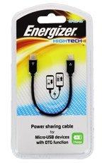 Kabel Energizer 2xmicroUSB Czarny