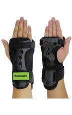 Kawasaki ochraniacze na dłonie i nadgarstki czarno-zielone roz. S