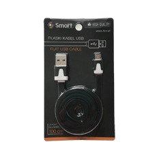 SmartGPS Płaski kabel microUSB Czarny 1m