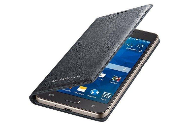 Etui Flip Wallet Szare do Samsung Galaxy Grand Prime EF-WG530BSEGWW