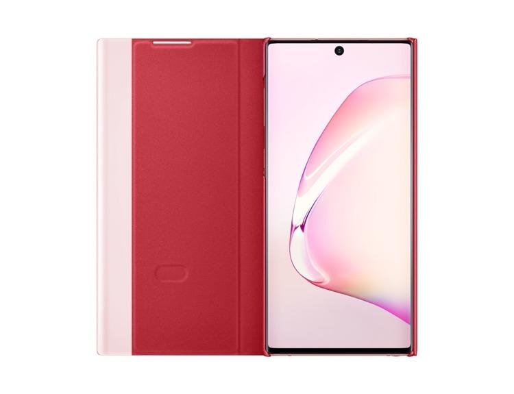 Etui Samsung CLEAR View Cover Czerwony do Galaxy Note 10 (EF-ZN970CREGWW)