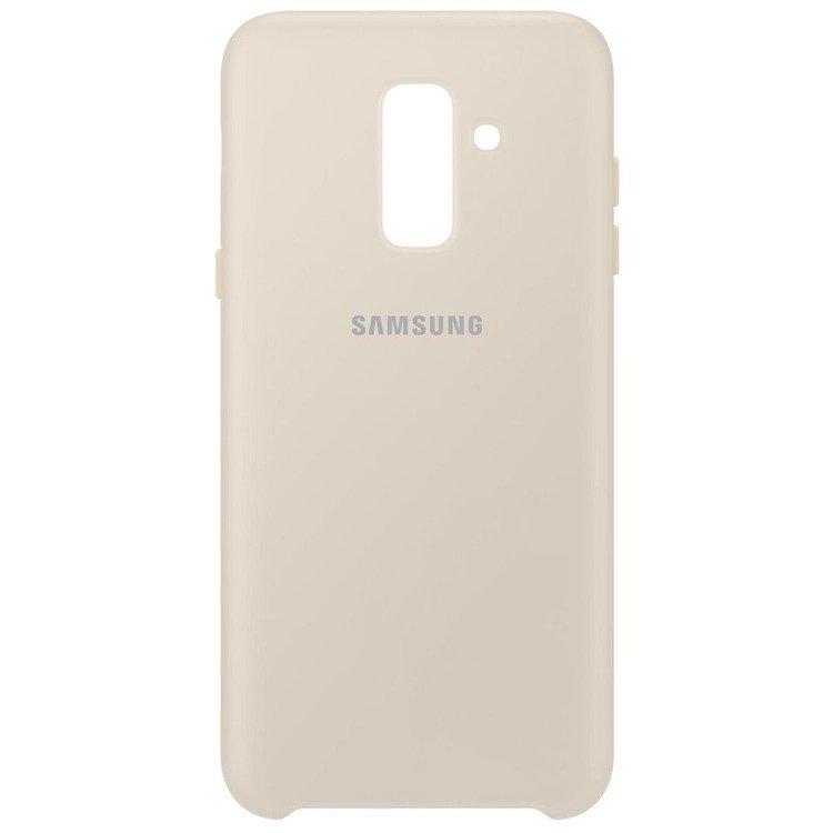 Etui Samsung Dual Layer Cover Złote do Galaxy A6+ (EF-PA605CFEGWW)