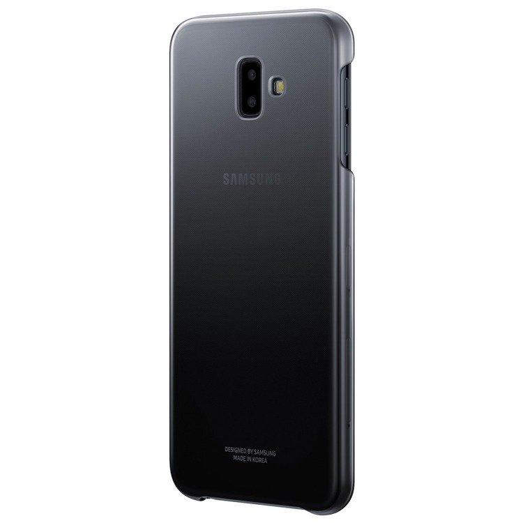 Etui Samsung Gradation Cover Czarne do Galaxy J6+ (2018) EF-AJ610CBEGWW