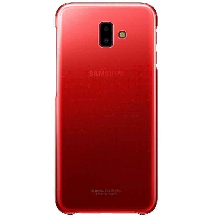 Etui Samsung Gradation Cover Czerwone do Galaxy J6+ (2018) EF-AJ610CREGWW