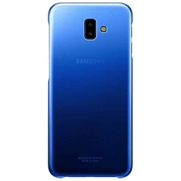 Etui Samsung Gradation Cover Niebieskie do Galaxy J6+ (2018) EF-AJ610CLEGWW