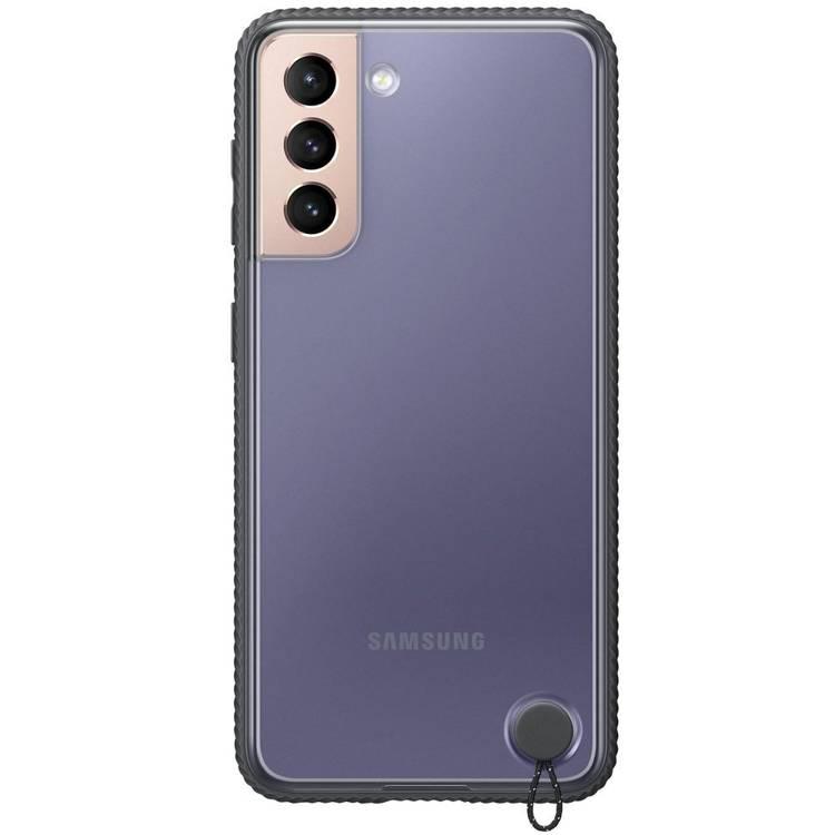 Etui Samsung Hard-Cover Clear Protective Czarne do Galaxy S21 (EF-GG991CBEGWW)