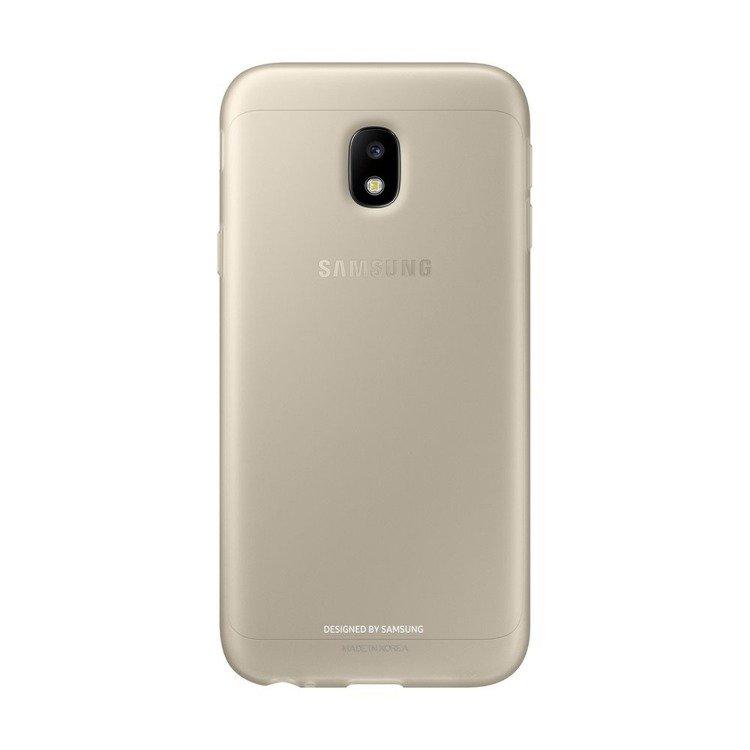 Etui Samsung Jelly Cover Złote do Galaxy J3 (2017) (EF-AJ330TFEGWW)