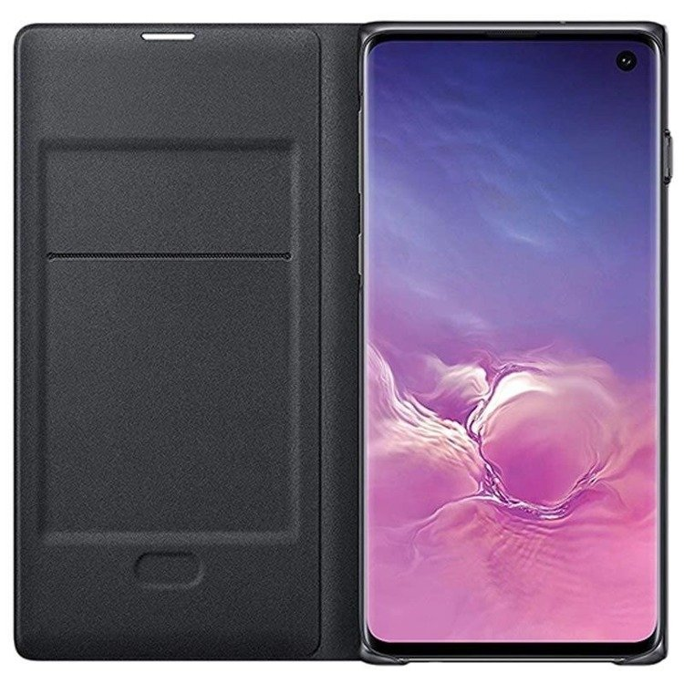 Etui Samsung LED View Cover Czarny do Galaxy S10 (EF-NG973PBEGWW)