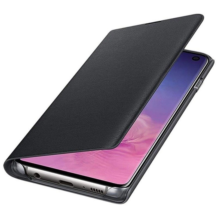 Etui Samsung LED View Cover Czarny do Galaxy S10 (EF-NG973PBEGWW)