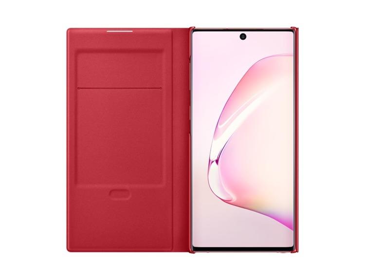 Etui Samsung LED View Cover Czerwony do Galaxy Note 10 (EF-NN970PREGWW)