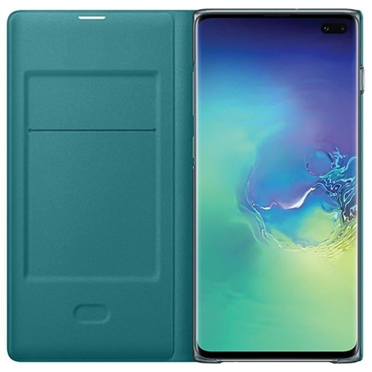 Etui Samsung LED View Cover Zielony do Galaxy S10+ (EF-NG975PGEGWW)