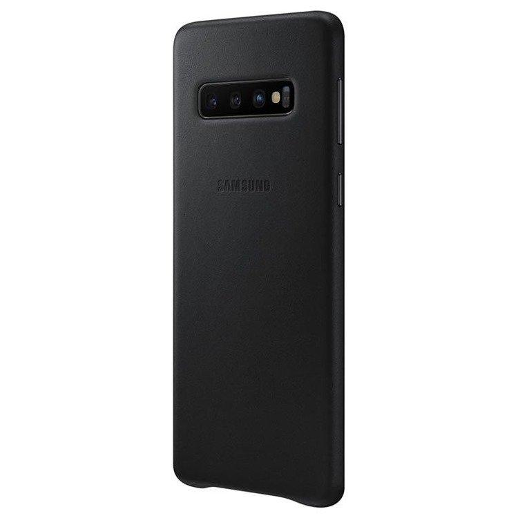 Etui Samsung Leather Cover Czarny do Galaxy S10+ (EF-VG975LBEGWW)