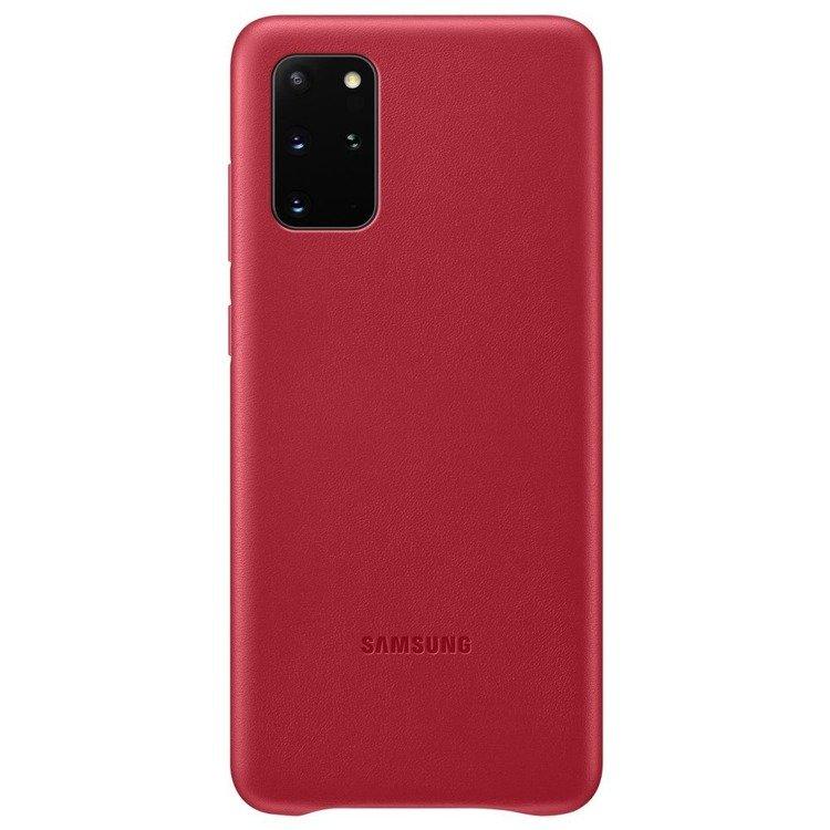 Etui Samsung Leather Cover Czerwone do Galaxy S20+ (EF-VG985LREGEU)