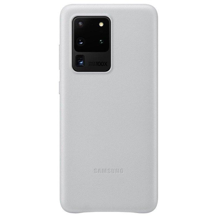 Etui Samsung Leather Cover Jasne Szare do Galaxy S20 Ultra (EF-VG988LSEGEU)