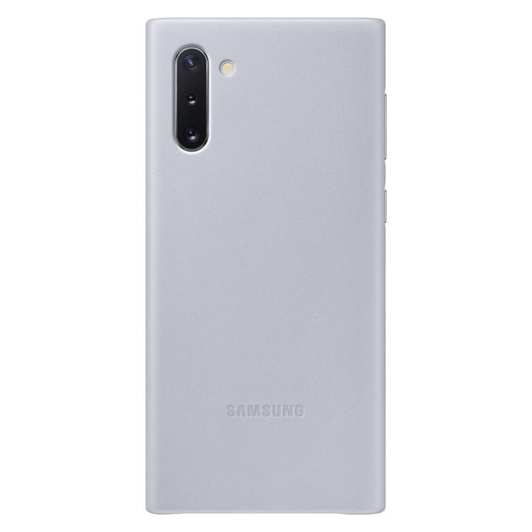 Etui Samsung Leather Cover Szary do Galaxy Note 10 (EF-VN970LJEGWW)