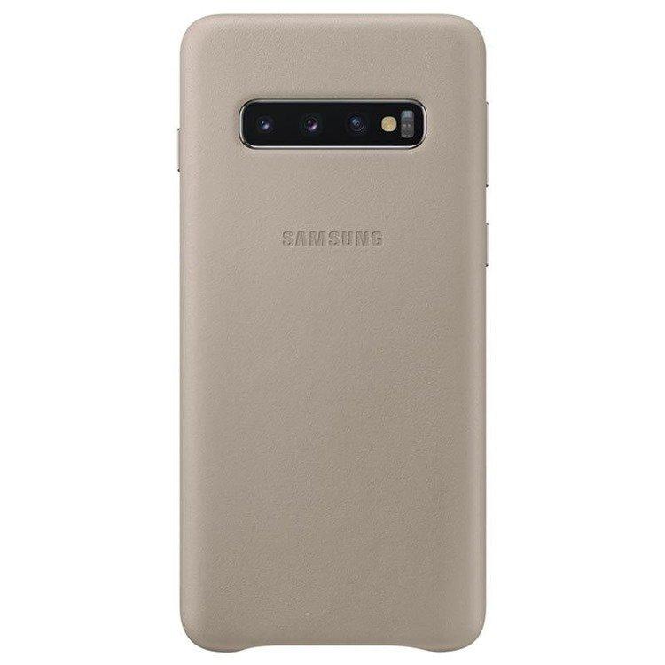 Etui Samsung Leather Cover Szary do Galaxy S10+ (EF-VG975LJEGWW)