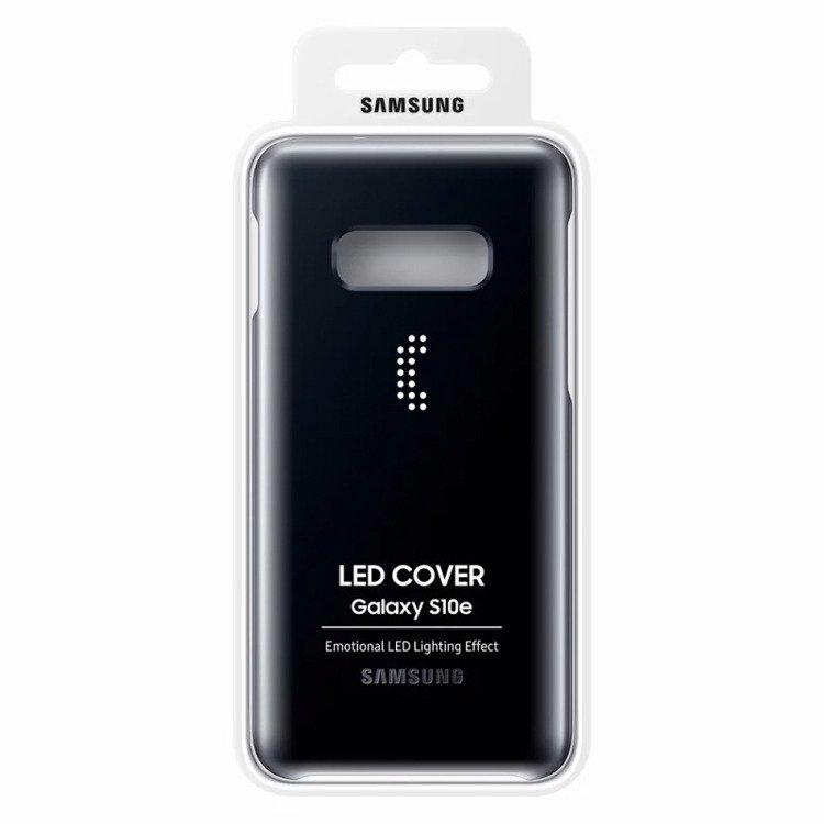 Etui Samsung Led Cover Czarny do Galaxy S10e (EF-KG970CBEGWW)