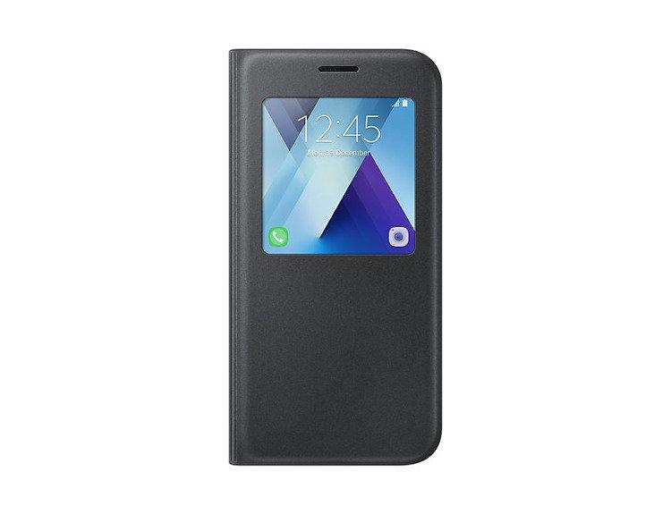 Etui Samsung S View Standing Cover Czarne do Galaxy A5 (2017) EF-CA520PBEGWW
