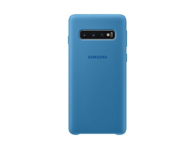 Etui Samsung Silicone Cover Niebieski do Galaxy S10 (EF-PG973TLEGWW)