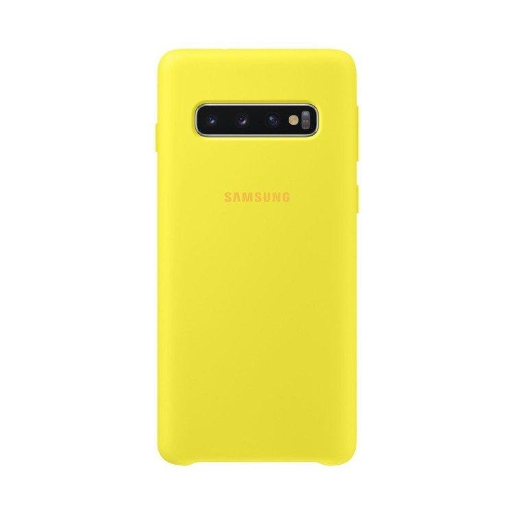 Etui Samsung Silicone Cover Żółty do Galaxy S10 (EF-PG973TYEGWW)