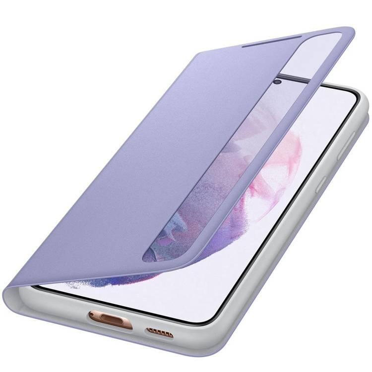 Etui Samsung Smart CLEAR View Cover Fioletowy do Galaxy S21+ (EF-ZG996CVEGEW)
