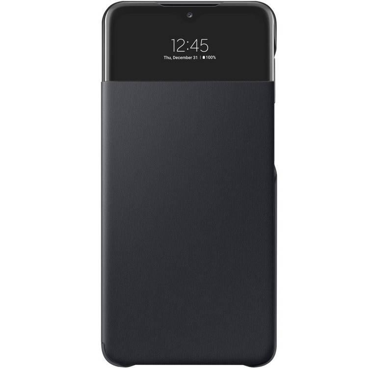 Etui Samsung Smart S View Wallet Cover Czarne do Galaxy A32 5G (EF-EA326PBEGEW)