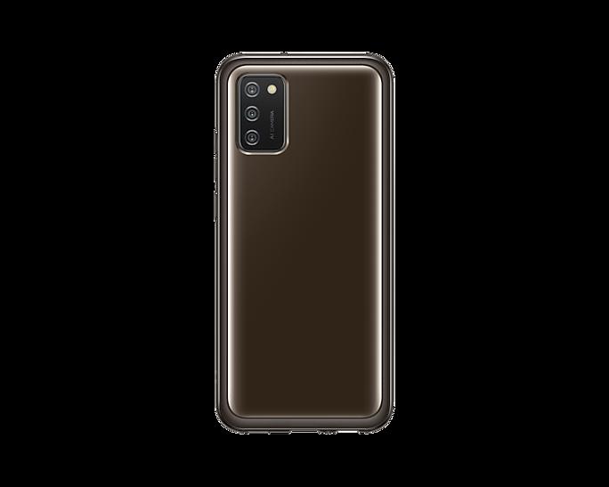 Etui Samsung Soft Clear Cover Czarny do Galaxy A02s (EF-QA026TBEGEU)