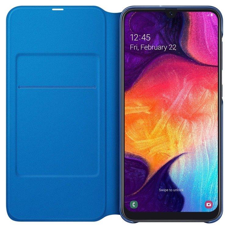 Etui Samsung Wallet Cover Czarne do Galaxy A50 (EF-WA505PBEGWW)