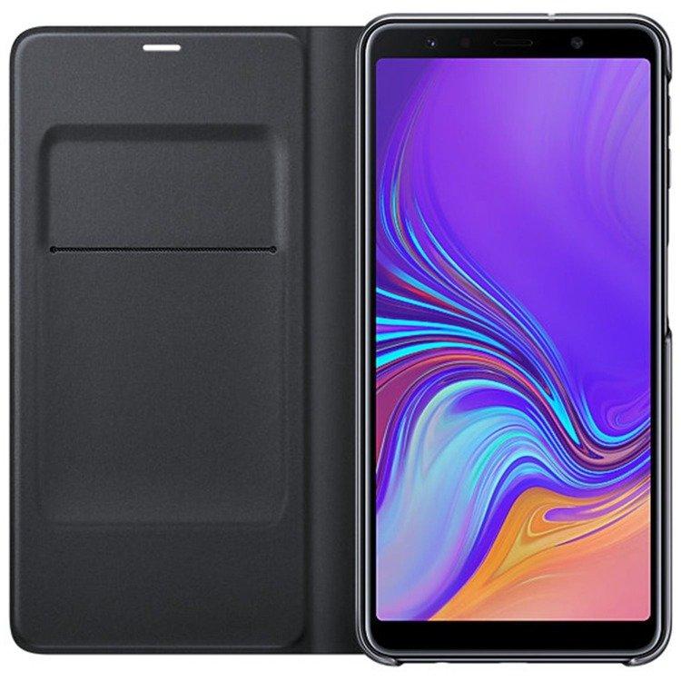 Etui Samsung Wallet Cover Czarne do Galaxy A7 (2018) EF-WA750PBEGWW