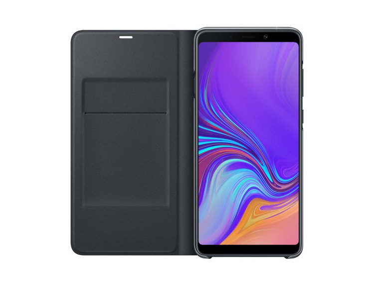 Etui Samsung Wallet Cover Czarne do Galaxy A9 (2018) EF-WA920PBEGWW