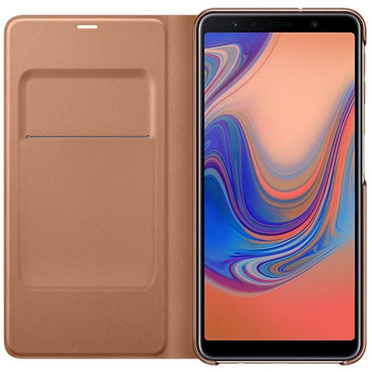 Etui Samsung Wallet Cover Złote do Galaxy A7 (2018) EF-WA750PFEGWW