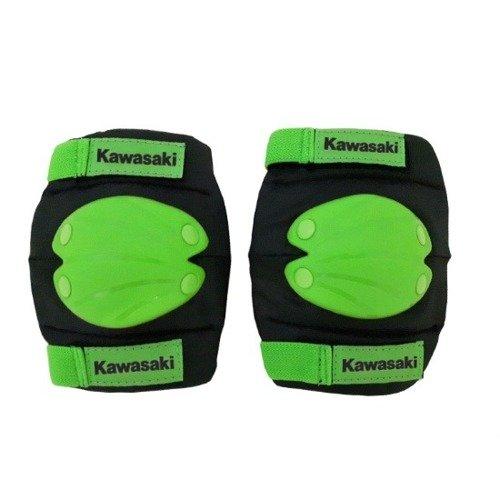 Kawasaki komplet ochraniaczy na łokcie i kolana czarno-zielone rozmiar M