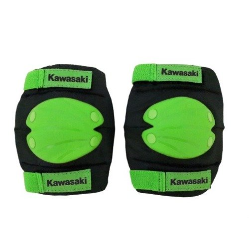 Komplet ochraniaczy na łokcie i kolana Kawasaki czarno-zielone rozmiar L
