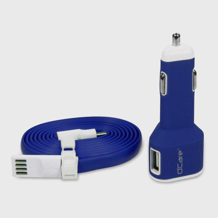 Ładowarka Samochodowa O'Care 2*USB 2400mA Niebieska