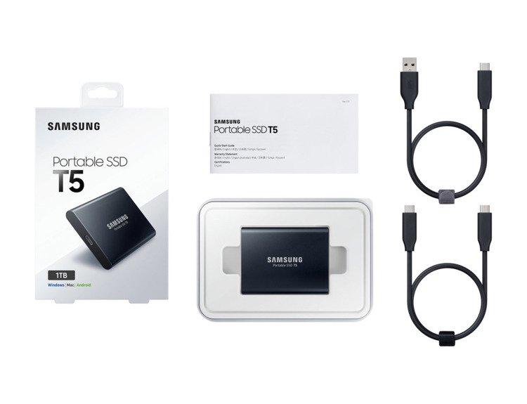 SAMSUNG T5 Dysk zewnetrzny SSD 1TB Czarny USB 3.1