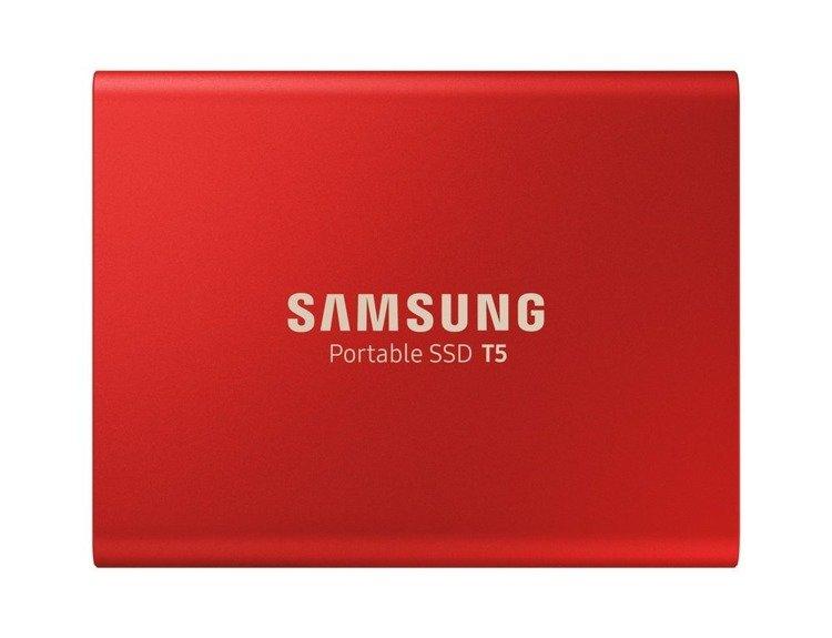 SAMSUNG T5 Dysk zewnetrzny SSD 500GB Czerwony USB 3.1 (MU-PA500R/EU)