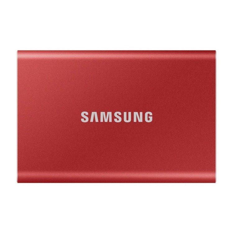 SAMSUNG T7 Dysk zewnetrzny SSD 1TB Czerwony USB 3.2 (MU−PC1T0R/WW)