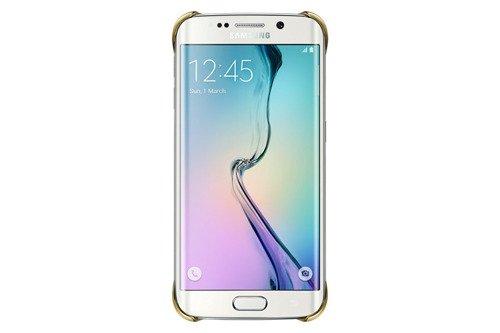 Samsung Etui Clear Cover Złote do Galaxy S6 Edge EF-QG925BFEGWW