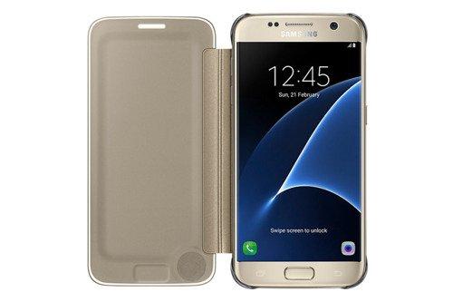 Samsung Etui Clear View Cover Złote do Galaxy S7 EF-ZG930CFEGWW