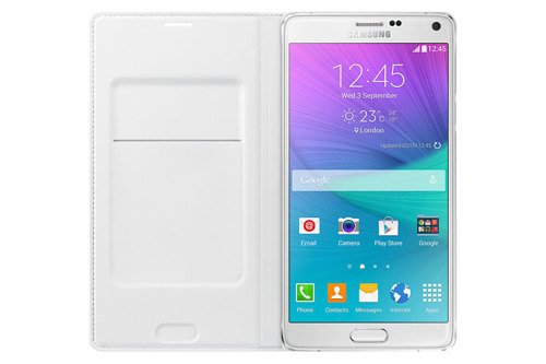 Samsung Etui Flip Wallet Białe  do Galaxy Note 4 EF-WN910BWEGWW