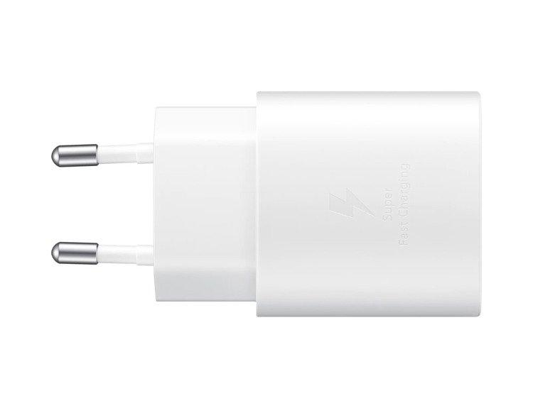 Samsung Szybka Ładowarka podróżna (25W) USB-C Biała Bez kabla (EP-TA800NWEGEU)