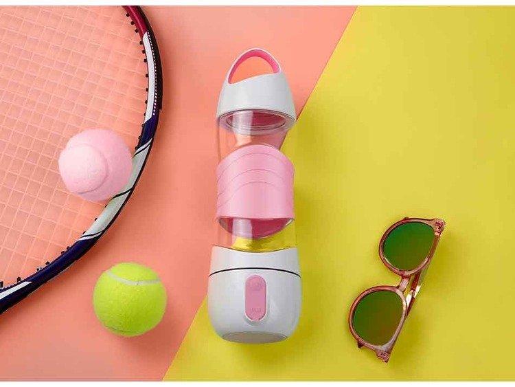 Wielofunkcyjny bidon sportowy Xiaomi Leyi DiDi Cup Pink