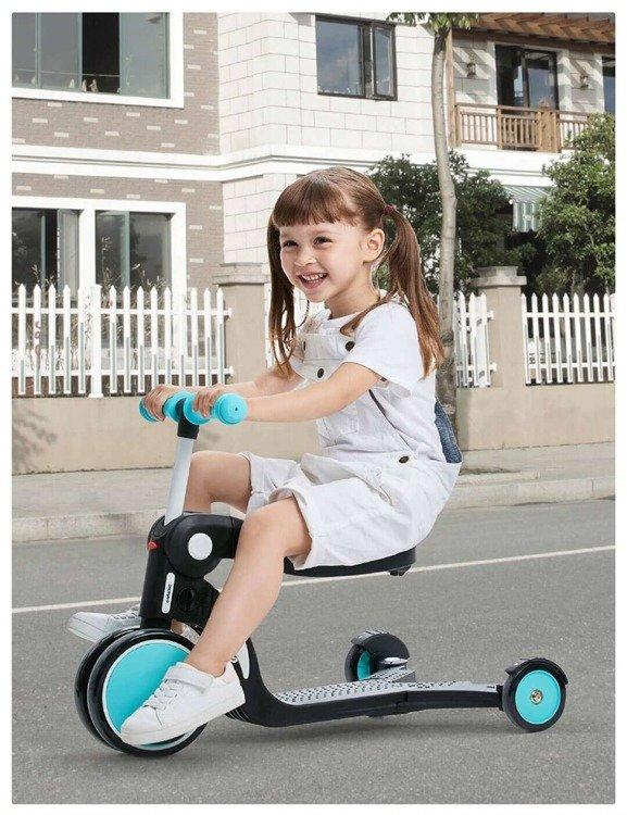 Wielofunkcyjny pojazd dziecięcy 5 w 1 Xiaomi BeBehoo Niebieski